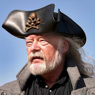 Picture of Skull & Crossbones Tricorn Leather Hat