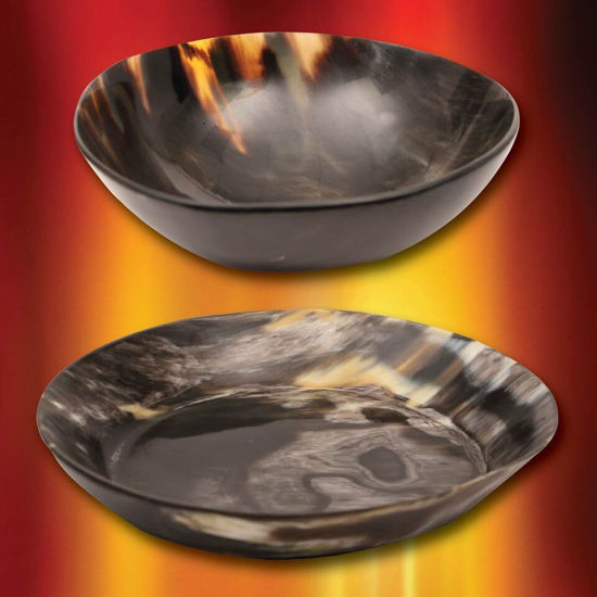 Horn Plate & Bowl Set