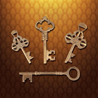 Picture of Monastery Keys - Set of 4