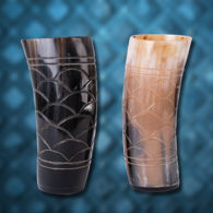 Picture of Carved Horn Cup Set