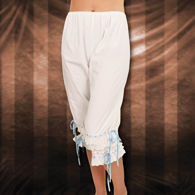 Period Pantaloons White Ladies Bloomers