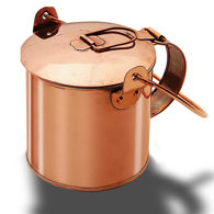 Solid Copper Coffee Can with Lid Closed