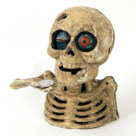 Picture of Cast Iron Skull Bank
