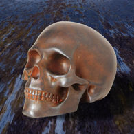 Iron Skull in Metalized Resin