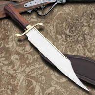 Primitive Bowie Knife and Scabbard