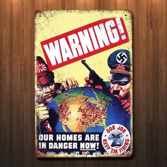 Vintage Syyle WWII Keep 'Em Firing Metal Sign