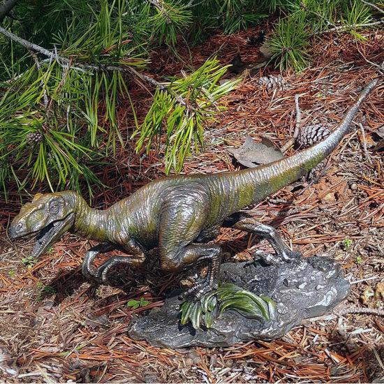 Velociraptor Cold Cast Resin Statue