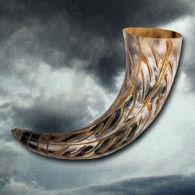 Carved All Natural Drinking Horn of Ragnar