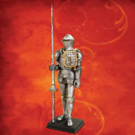 Picture of Medieval Armor with Lance Statue