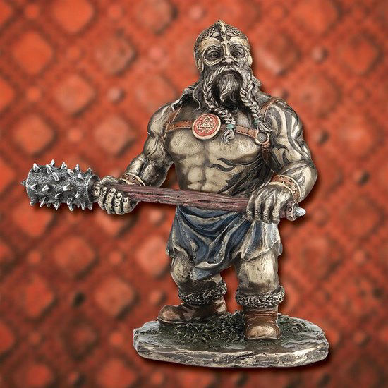 Picture of Shorty Viking with Club Statue