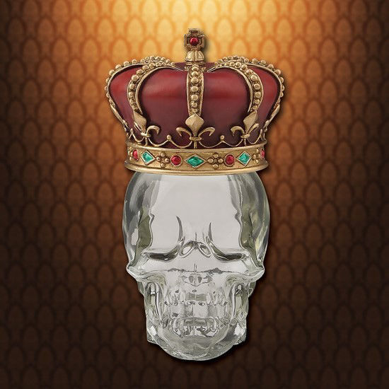 Picture of King of Pirates Skull Glass Bottle