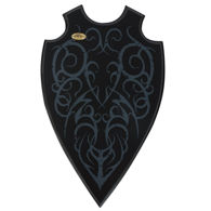 Fantasy Universal Sword Plaque by Kit Rae with screen printed tribal deign