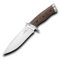 Gil Hibben Tundra Hunter Fixed Blade Knife with layered Micarta handle scales