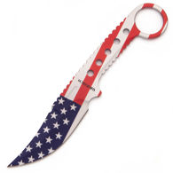 Red, White and Blue Wartech Old Glory Knife is crafted from a single piece of 3CR13 stainless steel