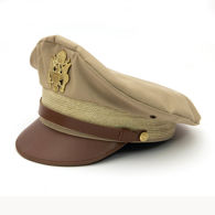 Khaki US WWII Army Officer's Crush Cap Replica