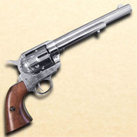 Non Firing 1873 .45 Caliber Revolver Cavalry Style revolver with Nickel Finish