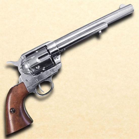 Non Firing 1873 .45 Caliber Revolver Cavalry Style revolver with Nickel Finish