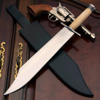 Windlass Texas Bowie with bone grip and high carbon steel blade that arrives sharp from the factory