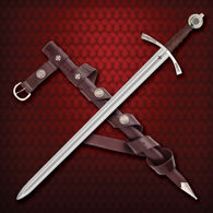 Faithkeeper Sword comes with matching leather scabbard and belt