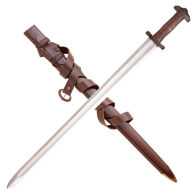 Matching Leather Scabbard and Baldric with the Gotland Sword