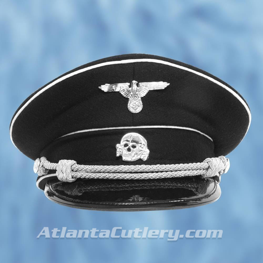 Picture of German WWII Reproduction SS Death Head Visor Cap