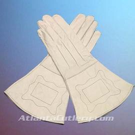 Civil War Union Enlisted Men's White Leather Gauntlets