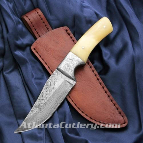 Stunning Damascus Belt Knife
