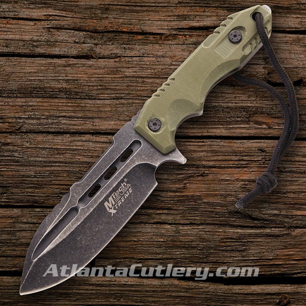 MTech Xtreme Spear Point OD Green Scales