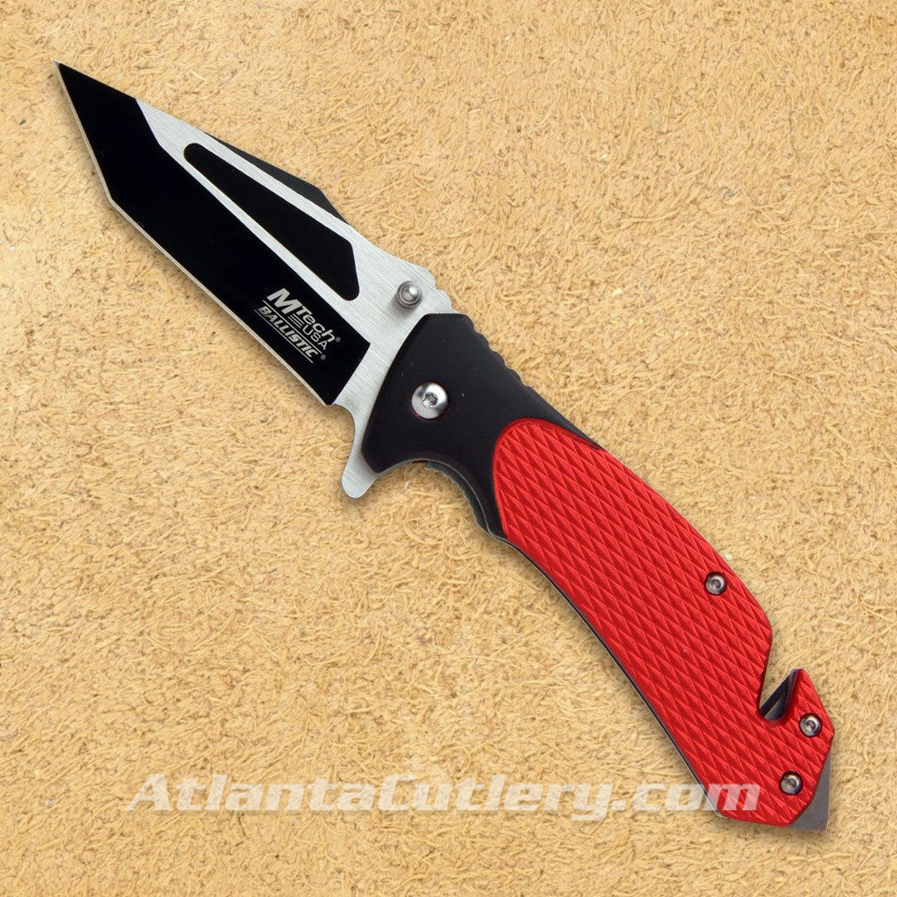 Red Rescue Knife by MTech