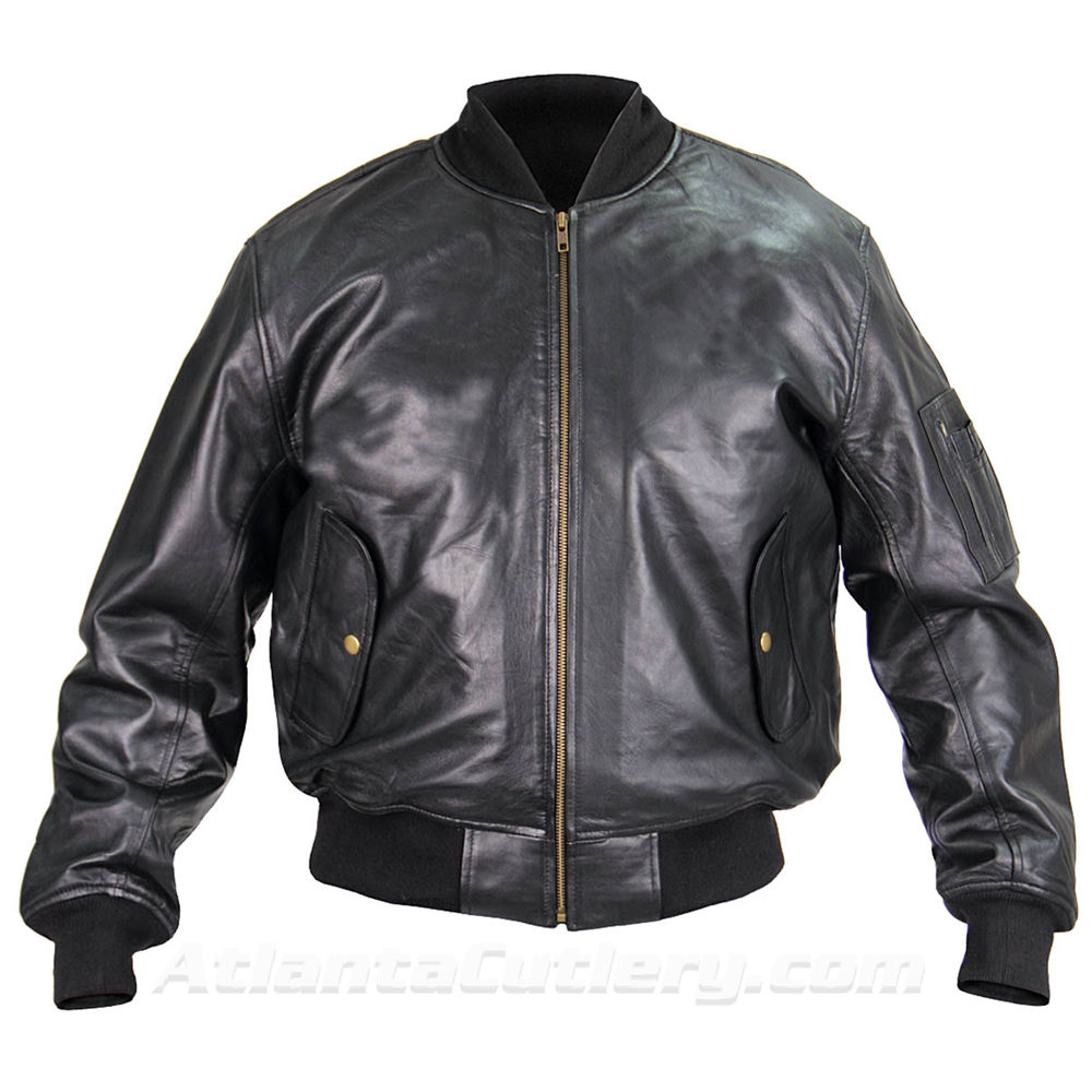 Picture of MA-1 Leather Flight Jacket US Government Spec