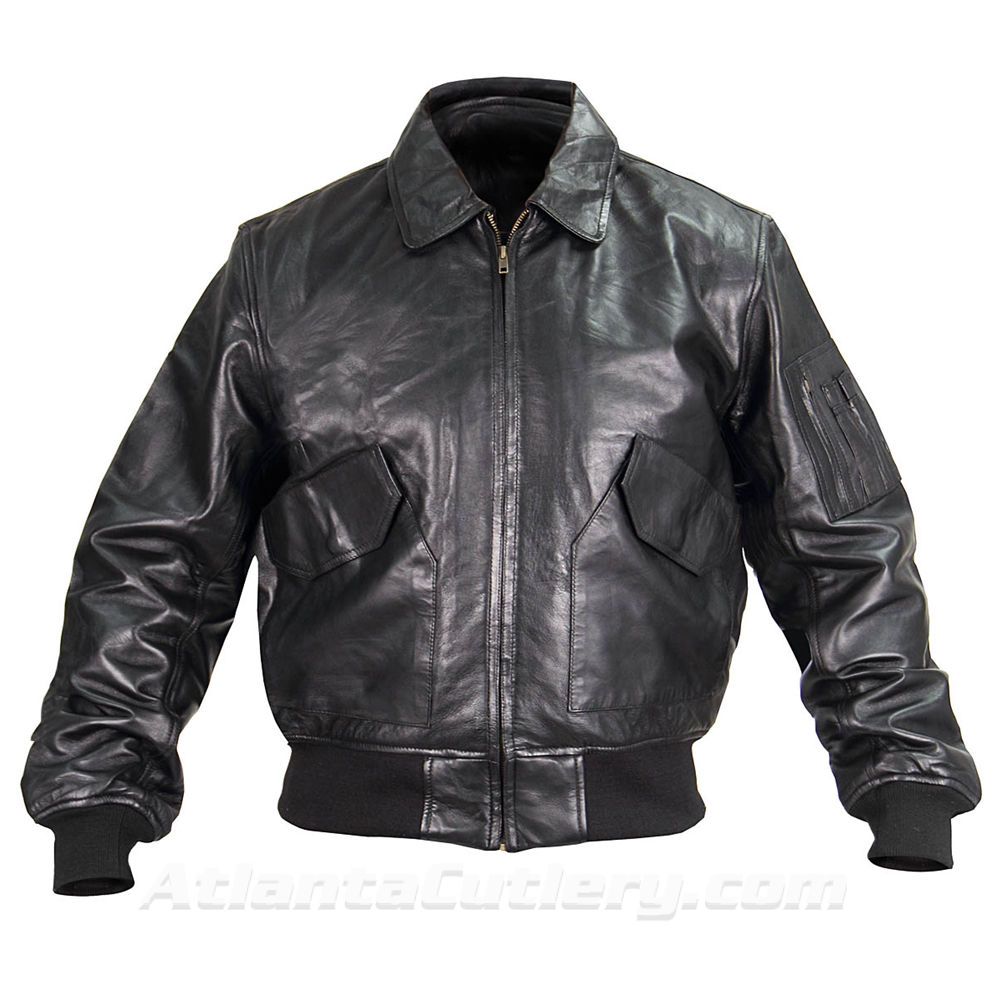 Picture of P-45 Leather Flight Jacket US Government Spec