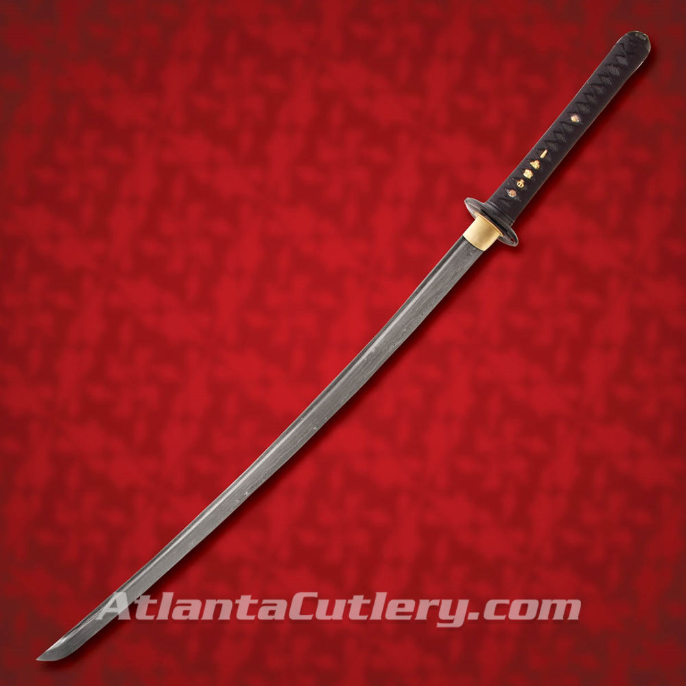 Picture of The Black Crane Damascus Katana