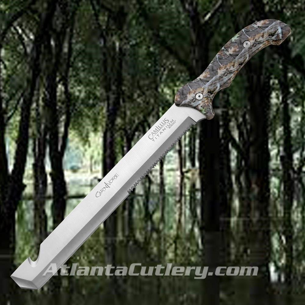 """Carnivore Machete -18"""" Titanium Bonded"""