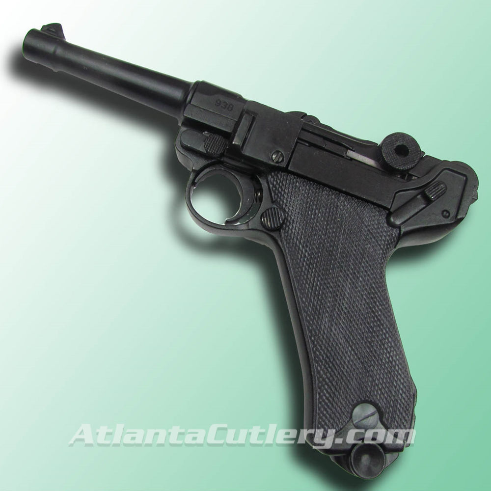 P-08 German Luger Parabellum Non-Firing Replica with Black Grips
