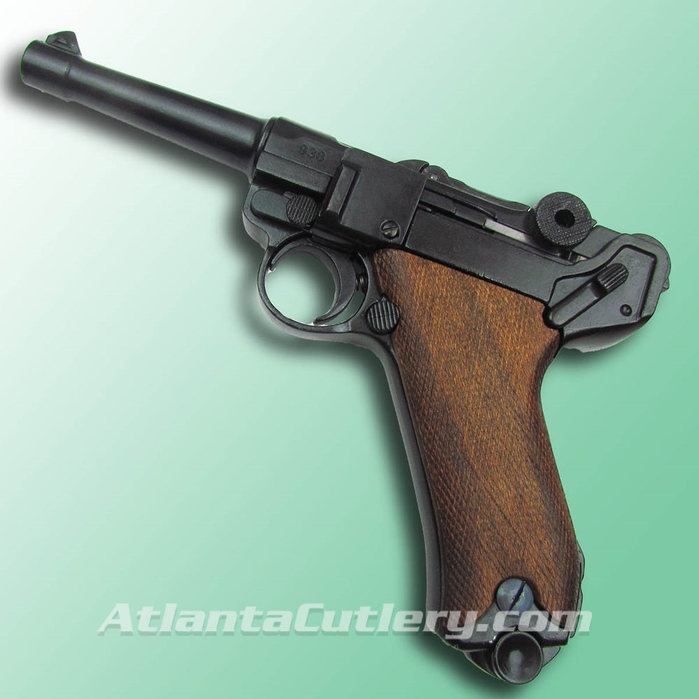 P-08 German Luger Parabellum Non-Firing Replica with Wood Grips