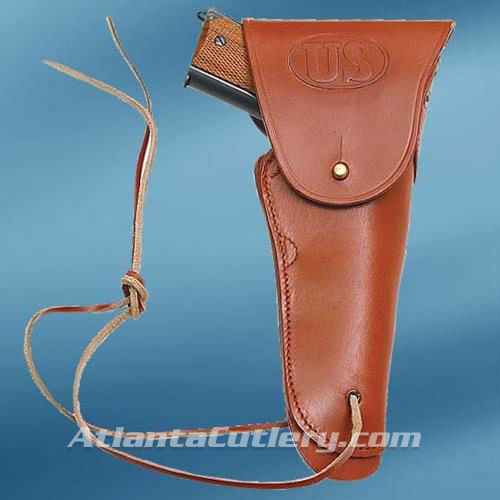 Picture of US WWII Issue .45 Hip Holster Brown