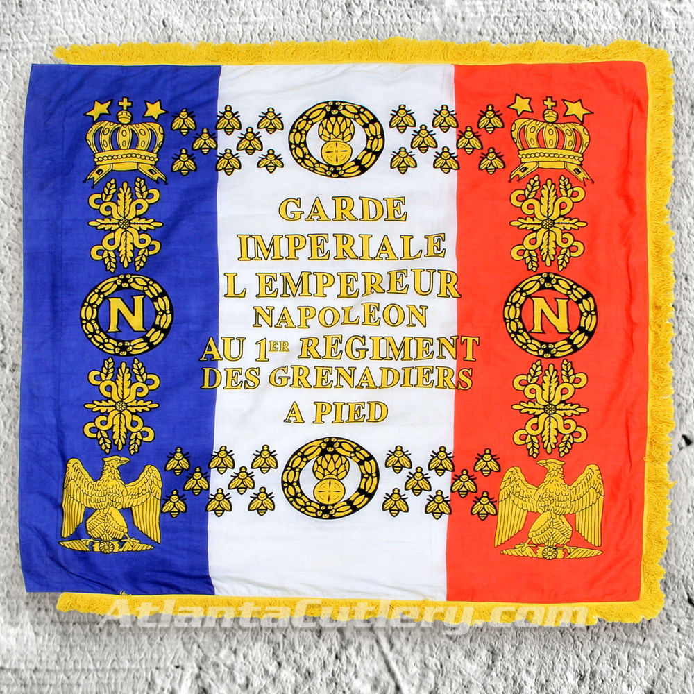 Napoleonic 1st Regiment Grenadier Flag