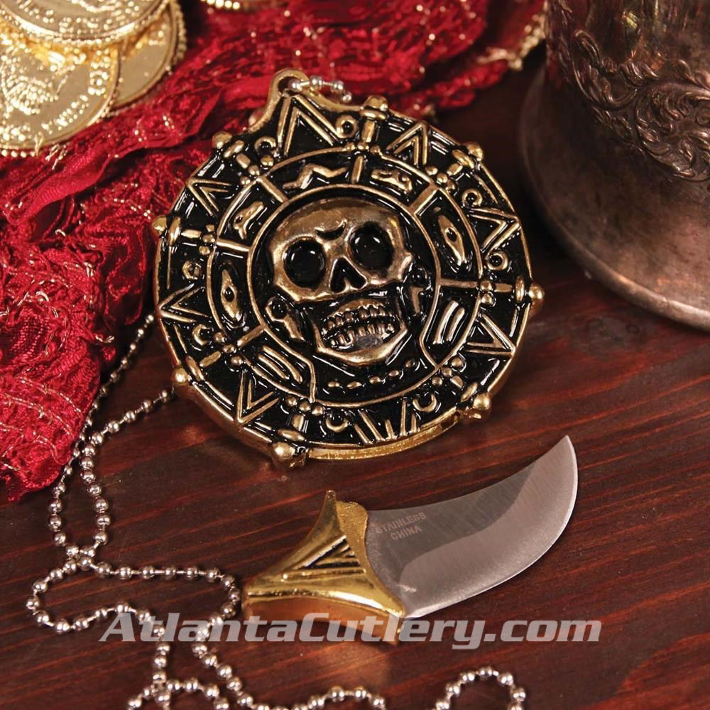 Pirate Pendant With Hidden Blade - blade detached