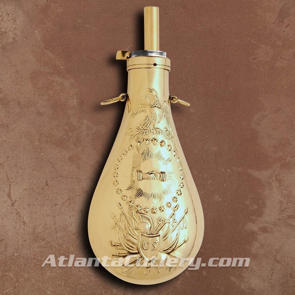 Picture of US Civil War Era Brass Powder Peace Flask