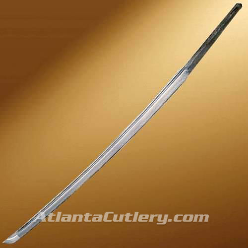 Picture of Damascus Katana Blade with Fuller