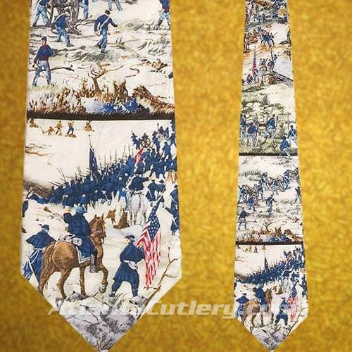 Picture of US Civil War Fighting Soldiers Silk Tie