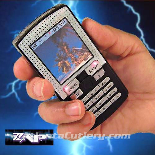 Picture of 1,000,000 Volt ZAP Cell Phone Stun Gun with Holster & Batteries