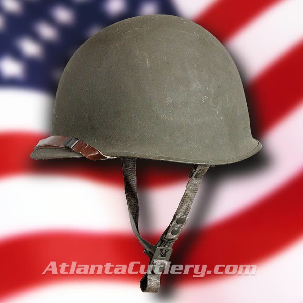Picture of US Style M1 Helmet with Fiberglass Liner, Danish M48