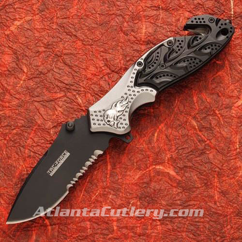 Picture of Flaming Skull Knife Black/Silver