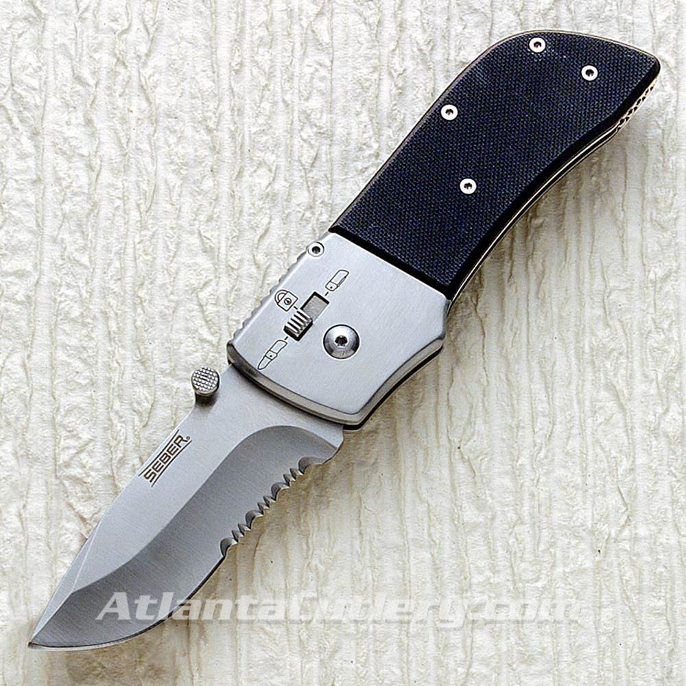 Picture of Partially Serrated Ratcheting Knife