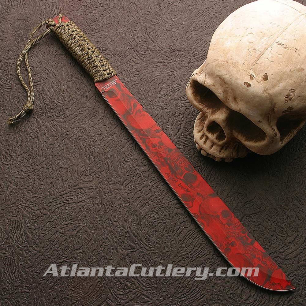 Picture of Zombie Red Compact Machete