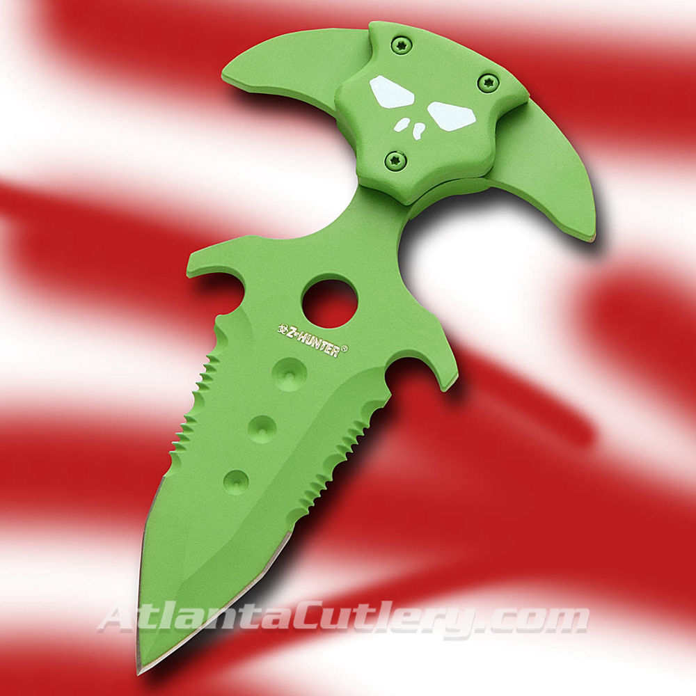 Picture of Toxic Green Demon Push Dagger