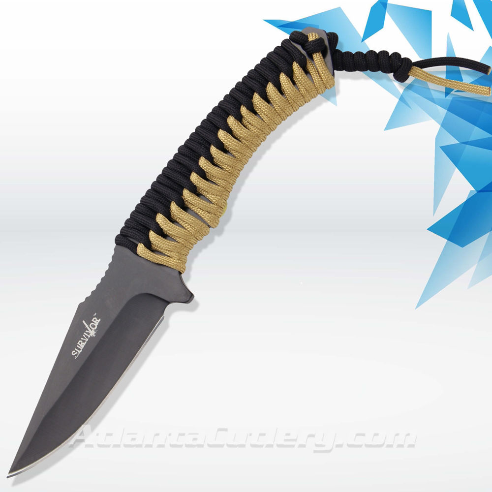 Picture of Drop Point Survival Knife with Fire Starter
