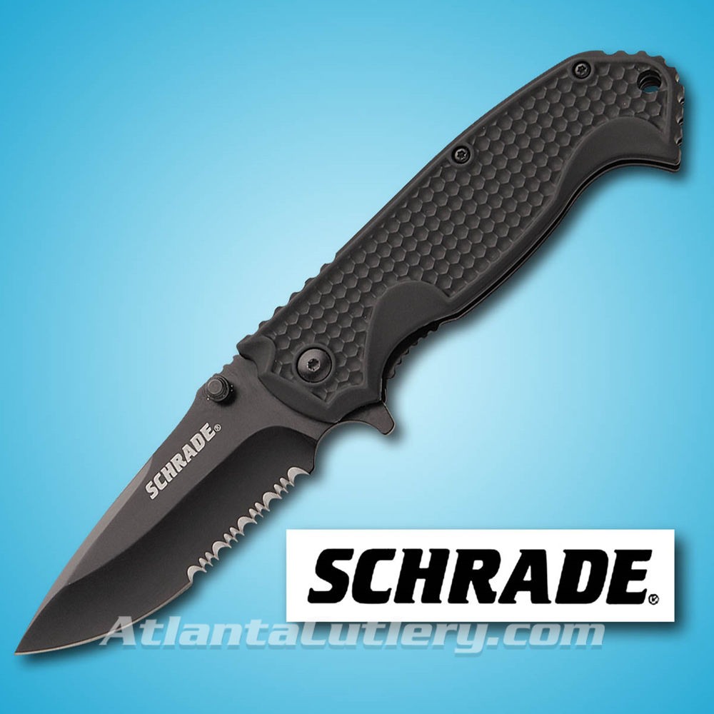 Picture of Schrade Drop Point Serrated Edge Folder