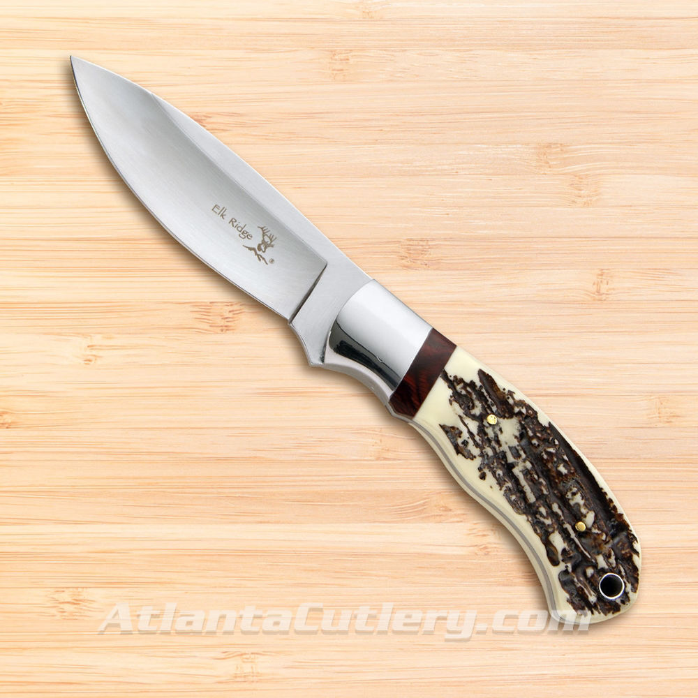 Picture of Elk Ridge Hunting Knife with Jigged Bone Scales